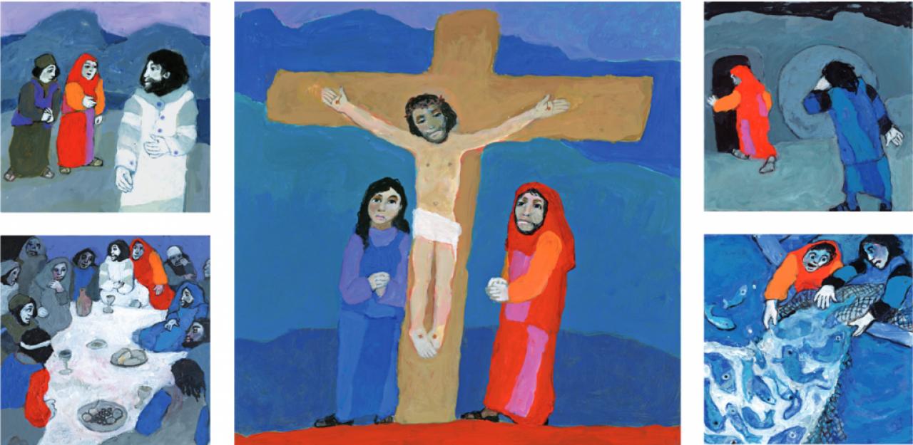 Bijbelvertellingen bij een Ikoon